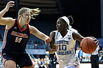 20 November 2016: North Carolina's Jamie Cherry (10) and Bucknell's Kaitlyn Stagus (50). The University of North Carolina Tar Heels hosted the Bucknell University Bisons at Carmichael Arena in Chapel Hill, North Carolina in a 2016-17 NCAA Women's Basketball game. UNC won the game 65-50.