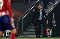 Olympique de Marseille's coach Rudi Garcia gives indications to his players during the UEFA Europa League final football match between Olympique de Marseille and Club Atletico de Madrid at the Groupama Stadium in Decines-Charpieu, near Lyon, France, May 16, 2018.<br /> UPDATE IMAGES PRESS/Isabella Bonotto
