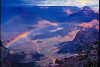 Rainbow on the South Kaibab Trail    Grand Canyon National park, Arizona      Along the trail to the Colroado River from Canyon Rim