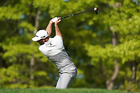 Dustin Johnson (USA) on the 13th tee during the 1st round at the PGA Championship 2019, Beth Page Black, New York, USA. 17/05/2019.<br /> Picture Fran Caffrey / Golffile.ie<br /> <br /> All photo usage must carry mandatory copyright credit (&copy; Golffile | Fran Caffrey)