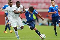 Santiago, Chile - Saturday, October 17, 2015: The USMNT U-17 take on Nigeria in their first round game during the 2015 FIFA U-17 World Cup at Stadium Nacional Julio Martínez Prádanos.