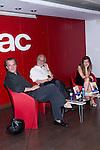 22.06.2012. Presentation in Fnac Callao in Madrid of the book ´Glory Mia' by Manuel Gutierrez Aragon with the presence of actors Jose Coronado and Marta Etura. In the picture: Jose Coronado, Manuel Gutierrez and Marta Etura (Alterphotos/Marta Gonzalez)