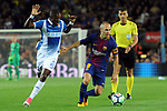 League Santander 2017/2018. Game: 03.<br /> FC Barcelona vs RCD Espanyol: 5-0.<br /> Pape Diop vs Andres Iniesta.
