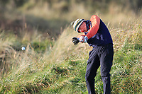 Max Kennedy (Royal Dublin) on the 12th tee during Round 3 of the Ulster Boys Championship at Portrush Golf Club, Valley Links, Portrush, Co. Antrim on Thursday 1st Nov 2018.<br /> Picture:  Thos Caffrey / www.golffile.ie<br /> <br /> All photo usage must carry mandatory copyright credit (&copy; Golffile | Thos Caffrey)
