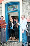 Brosnan's Bar Official Opening : Gerry Murphy cutting the ribbon at the official opening oF Brosnan's Racecourse Bar, Listowel on Friday last...L-R : Maurice Guiney, Dianne, Pat & Jenny Brosna, Gerry Murphy, Mike Brosnan Jimmy Joy.