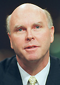 """Washington, DC - June 7, 2000 -- J. Craig Venter, Ph.D; President and Chief Scientific Officer, Celera Genomics, testifies before the U.S. Congress' Joint Economic Committee on """"Removing Barriers to the New Economy"""" in Washington, DC on 7 June, 2000.<br /> Credit: Ron Sachs / CNP"""