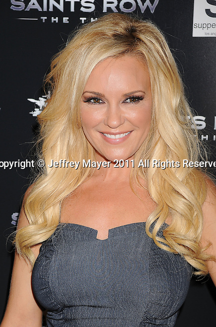 """LOS ANGELES, CA - OCTOBER 12: Bridget Marquardt arrives at THQ's """"Saints Row: The Third"""" sneak peek premiere event and concert at SupperClub Los Angeles on October 12, 2011 in Los Angeles, California."""
