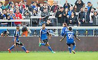 San Jose, California - March 6, 2016: The San Jose Earthquakes defeated Colorado Rapids 1-0 during the 2016 season opener at Avaya Stadium