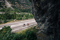 Michael Sch&auml;r (SUI/BMC) &amp; Dimitri Claeys (BEL/Cofidis) briding the gap to the breakaway leaders<br /> <br /> Stage 13: Bourg d'Oisans &gt; Valence (169km)<br /> <br /> 105th Tour de France 2018<br /> &copy;kramon
