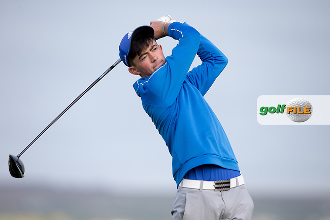 Michael Kennedy (NUI Galway) during round 1 of the Irish Intervarsity Championship, Lahinch Golf Club, Clare, Ireland.  19/10/2016<br /> Picture: Golffile | Fran Caffrey<br /> <br /> <br /> All photo usage must carry mandatory copyright credit (&copy; Golffile | Fran Caffrey)