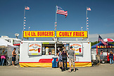 USA, Washington State, Long Beach Peninsula, food vendor at the International Kite Festival