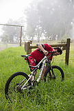 USA, Hawaii, The Big Island, mountain biking down mud lane from road 19 down to road 240, Chef Seamus Mullen