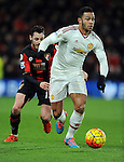 Memphis Depay of Manchester United<br /> - Barclays Premier League - Bournemouth vs Manchester United - Vitality Stadium - Bournemouth - England - 12th December 2015 - Pic Robin Parker/Sportimage