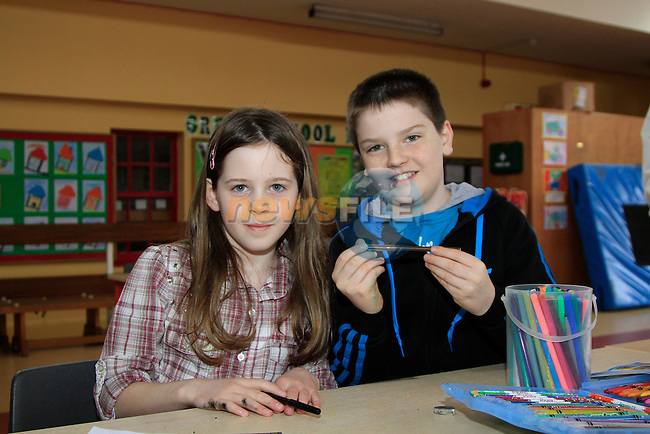 Laura Reilly Conor shelvin.at the Art competition run in conjunction with community games..Picture www.newsfile.ie