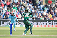 Shakib Al Hasan (Bangladesh) flips a short delivery from Jofra Archer (England) over fine leg for six during England vs Bangladesh, ICC World Cup Cricket at Sophia Gardens Cardiff on 8th June 2019