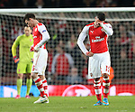 Arsenal's Alex Oxlade-Chamberlain looks on dejected at the final whistle<br /> <br /> Champions League - Arsenal  vs AS Monaco  - Emirates Stadium - England - 25th February 2015 - Picture David Klein/Sportimage