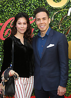 4 January 2020 - Beverly Hills, California - Bianca Stam and Apolo Anton Ohno. the 7th Annual Gold Meets Golden Brunch  held at Virginia Robinson Gardens and Estate. Photo Credit: FS/AdMedia