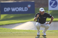 Lee Westwood (ENG) on the 15th green during the final round of the DP World Tour Championship, Jumeirah Golf Estates, Dubai, United Arab Emirates. 18/11/2018<br /> Picture: Golffile | Fran Caffrey<br /> <br /> <br /> All photo usage must carry mandatory copyright credit (© Golffile | Fran Caffrey)