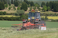 29.5.2020 Turning haylage in Lincolnshire <br /> ©Tim Scrivener Photographer 07850 303986<br />      ....Covering Agriculture In The UK.