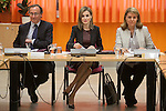 Queen Letizia of Spain and Health Minister Alfonso Alonso during the Royal Board on Disability Council meeting in Madrid, Spain. February 25, 2015. (Pool/ALTERPHOTOS/Victor Blanco)