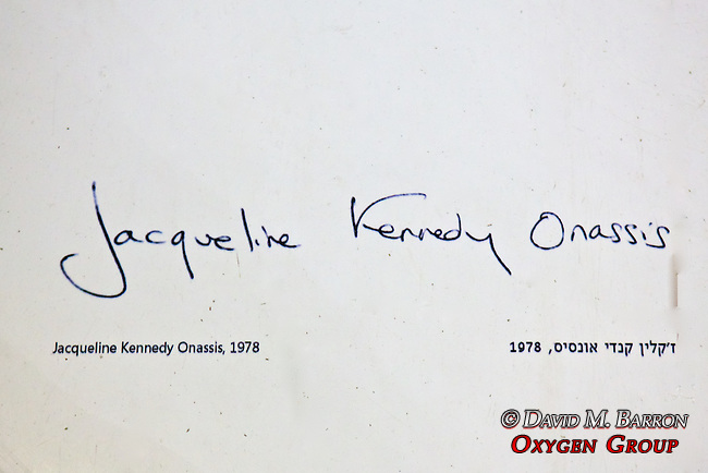 Jacqueline Kennedy Onassis - Famous Guest's Signatures  On Floor In Kind David Hotel