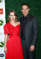 NEW YORK, NY - OCTOBER 4: Morgan Macgregor and Michael C. Hall at the  2018 Farm Sanctuary On the Hudson Gala honoring Carol Leifer, Tracye McQuirter and Dr. Kristi Funk in New York City on October 4, 2018. <br /> CAP/MPI99<br /> &copy;MPI99/Capital Pictures