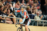 Australia's Anna Meares wins gold in the Womens Sprint at the 2014 Oceania Track Championships, Sit Zero Fees Velodrome, Invercargill, New Zealand, Friday, November 22, 2013. Photo: Dianne Manson / NINZ