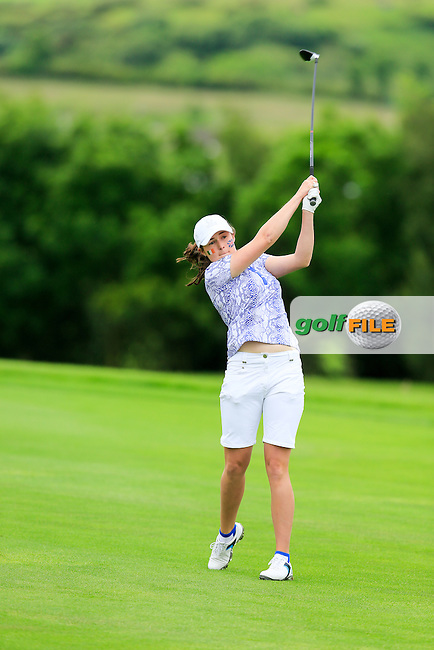 Rochelle Morris during Sunday Singles matches at the 2016 Curtis cup from Dun Laoghaire Golf Club, Ballyman Rd, Enniskerry, Co. Wicklow, Ireland. 12/06/2016.<br /> Picture Fran Caffrey / Golffile.ie<br /> <br /> All photo usage must carry mandatory copyright credit (&copy; Golffile   Fran Caffrey)