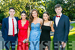 Enjoying the Killarney Schools Debs at Ballyroe Heights Hotel on Monday were l-r  Kian Sheehan, Aoife O'Donoghue, Lucy O'Rourke, Mark O'Shea and Sarah walsh