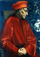 Renaissance Art:  Pontormo--Cosimo de Medici.  Galleria Uffizi.