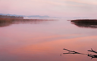 Dawn at Klamath Lake marsh.