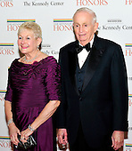 "John Willard ""Bill"" Marriott, Jr., Chairman and CEO of Marriott International, and his wife, Donna Garff, arrive for the formal Artist's Dinner honoring the recipients of the 2011 Kennedy Center Honors hosted by United States Secretary of State Hillary Rodham Clinton at the U.S. Department of State in Washington, D.C. on Saturday, December 3, 2011. The 2011 honorees are actress Meryl Streep, singer Neil Diamond, actress Barbara Cook, musician Yo-Yo Ma, and musician Sonny Rollins..Credit: Ron Sachs / CNP"