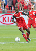 15 September 2012: Toronto FC defender Aaron Maund #21 in action during an MLS game between the Philadelphia Union and Toronto FC at BMO Field in Toronto, Ontario..The game ended in a 1-1 draw..