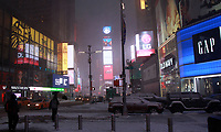 NEW YORK, NY - JANUARY 4: View of Times Square after 'Bomb Cyclone' storm hits New York City on January 4, 2018.   <br /> CAP/MPI/RW<br /> &copy;RW/MPI/Capital Pictures