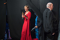 Allison Janney poses backstage with the Oscar&reg; for Performance by an actress in a supporting role, for work on &ldquo;I, Tonya&rdquo; during the live ABC Telecast of The 90th Oscars&reg; at the Dolby&reg; Theatre in Hollywood, CA on Sunday, March 4, 2018.<br /> *Editorial Use Only*<br /> CAP/PLF/AMPAS<br /> Supplied by Capital Pictures