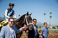 ARCADIA, CA - MAY 27: Illuminant  #6 ridden by FLavien Prat wins the Monrovia Stakes at Santa Anita Park  on May 27, 2017 in Arcadia, California. (Photo by Alex Evers/Eclipse Sportswire/Getty Images)