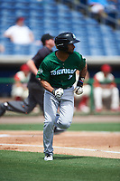 Daytona Tortugas designated hitter Ty Washington (3) runs to first base during a game against the Clearwater Threshers on April 20, 2016 at Bright House Field in Clearwater, Florida.  Clearwater defeated Daytona 4-2.  (Mike Janes/Four Seam Images)