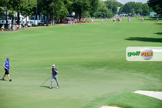 Soren Kjeldsen (DNK) after sinking his putt on 10 during Friday's round 2 of the PGA Championship at the Quail Hollow Club in Charlotte, North Carolina. 8/11/2017.<br /> Picture: Golffile   Ken Murray<br /> <br /> <br /> All photo usage must carry mandatory copyright credit (&copy; Golffile   Ken Murray)