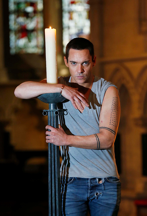 No Repro Fee.<br /> <br /> CAST OF SKY LIVING HD'S DRACULA COME TO CHRIST CHURCH CATHEDRAL FOR IRISH PREMIERE<br />  <br /> Irish Premiere of Dracula star, Jonathan Rhys Myers, pictured at the Irish Premiere screening of Sky Living HD's brand new series, DRACULA held in Christ Church Cathedral today which also featured a live Q&A with the cast. Sky Living HD's lavish new 10 part TV series.<br /> Pic. Robbie Reynolds