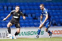 Dan Gardner, Wigan Athletic,  marshalled by Luke Chambers of Ipswich Town during Ipswich Town vs Wigan Athletic, Sky Bet EFL League 1 Football at Portman Road on 13th September 2020