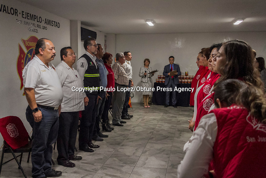 San Juan del Río.,Qro. 1 de noviembre del 2017.- Se da inicio del arranque de la colecta de bomberos para recaudar fondos para beneficio del h. cuerpo de bomberos.