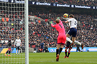 Jan Vertonghen of Tottenham Hotspur sees his goal ruled out for offside during Tottenham Hotspur vs Huddersfield Town, Premier League Football at Wembley Stadium on 3rd March 2018