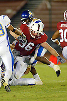 Pat Jacobs during Stanford's 63-26 win over San Jose State on September 14, 2002 at Stanford Stadium.<br />Photo credit mandatory: Gonzalesphoto.com