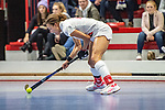 Tara Duus #17 of TSV Mannheim beim Spiel der Hockey Bundesliga Damen, TSV Mannheim (hell) - Mannheimer HC (dunkel).<br /> <br /> Foto © PIX-Sportfotos *** Foto ist honorarpflichtig! *** Auf Anfrage in hoeherer Qualitaet/Aufloesung. Belegexemplar erbeten. Veroeffentlichung ausschliesslich fuer journalistisch-publizistische Zwecke. For editorial use only.