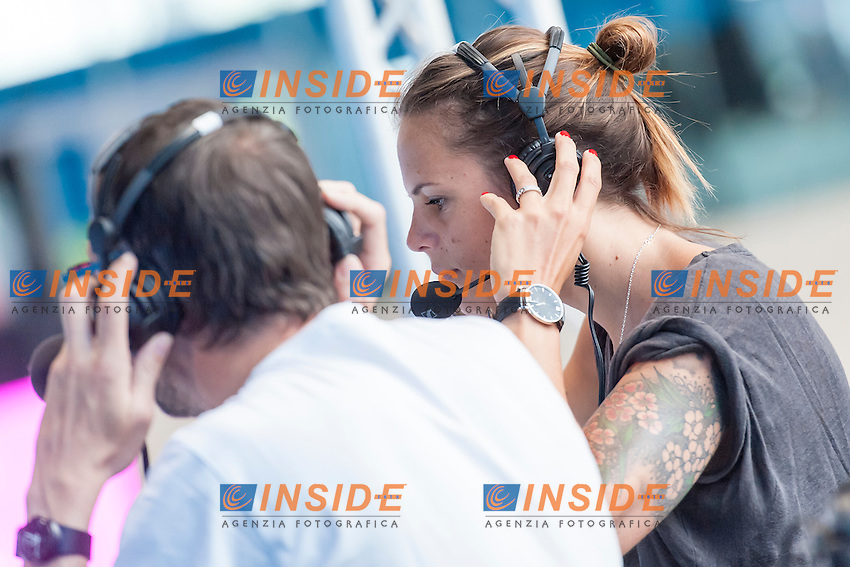 Laure MANAUDOU at work <br /> <br /> London, Queen Elizabeth II Olympic Park Pool <br /> LEN 2016 European Aquatics Elite Championships <br /> Swimming<br /> Day 10 18-05-2016<br /> Photo Andrea Staccioli/Deepbluemedia/Insidefoto