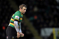 Stephen Myler of Northampton Saints looks on during a break in play. Aviva Premiership match, between Northampton Saints and Gloucester Rugby on November 27, 2015 at Franklin's Gardens in Northampton, England. Photo by: Patrick Khachfe / JMP