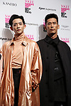 September 9, 2017, Tokyo, Japan - (L-R) Ryo Ryusei and Naoki Kobayashi pose for photo at the opening ceremony for the Vogue Fashion's Night Out 2017 in Tokyo on Saturday, September 9, 2017. Some 630 shops participated one-night fashion shopping event in Tokyo. (Photo by Yoshio Tsunoda/AFLO) LWX -ytd-