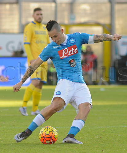 10.01.2016. Stadium Matusa, Frosinone, Italy.  Serie A football league. Frosinone versus Napoli. Marek Hamsik in action