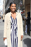 NEW YORK, NY - APRIL 9: Gabrielle Union seen at NBC's Today Show in New York City April 9, 2018. <br /> CAP/MPI/RW<br /> &copy;RW/MPI/Capital Pictures