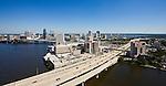 Jacksonville Skyline over I-95 Fuller Warren Bridge